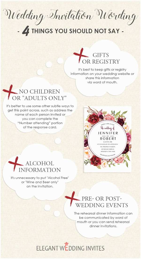 Wedding Invitation No Kids Wedding Invitation Wording – 4 Things You Should Not Say