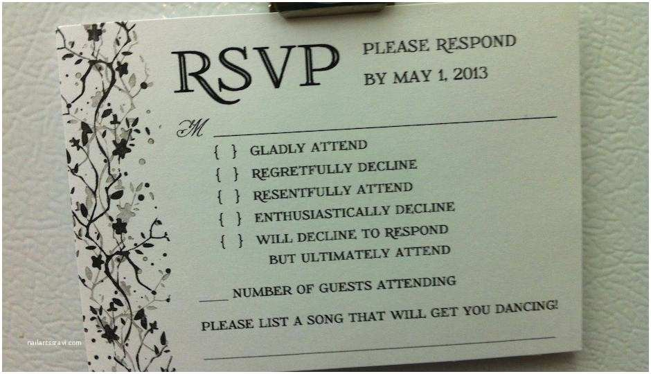 Wedding Invitation No Plus One Photo This is the Best Wedding Rsvp Card We Ve Ever Seen