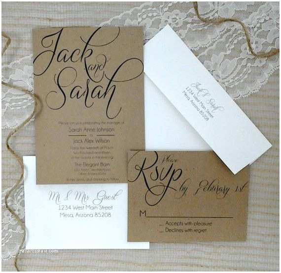 Wedding Invitation Package Deals Country Rustic Wedding Invitation Package Printed Rsvp W