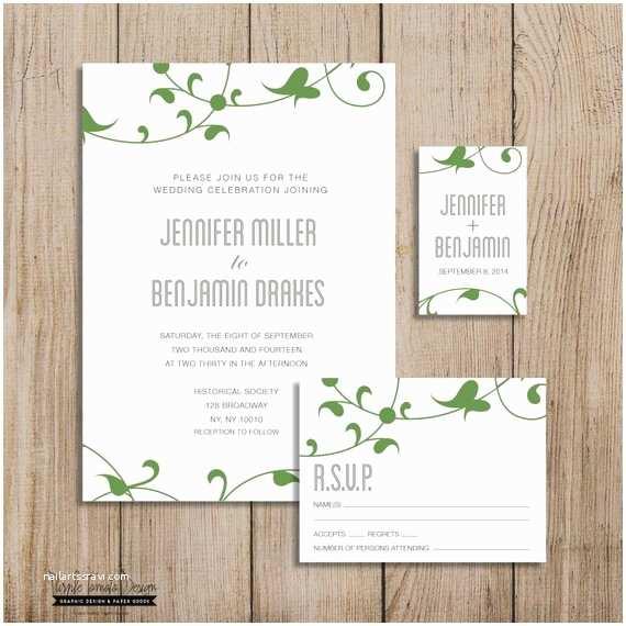 Wedding Invitation Package Deals Custom Wedding Invitation Package Printable Diy Rsvp Card
