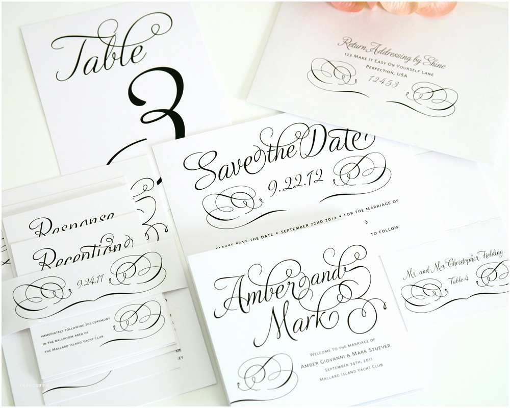 Wedding Invitation Packages Plete Wedding Invitation Package Charming by