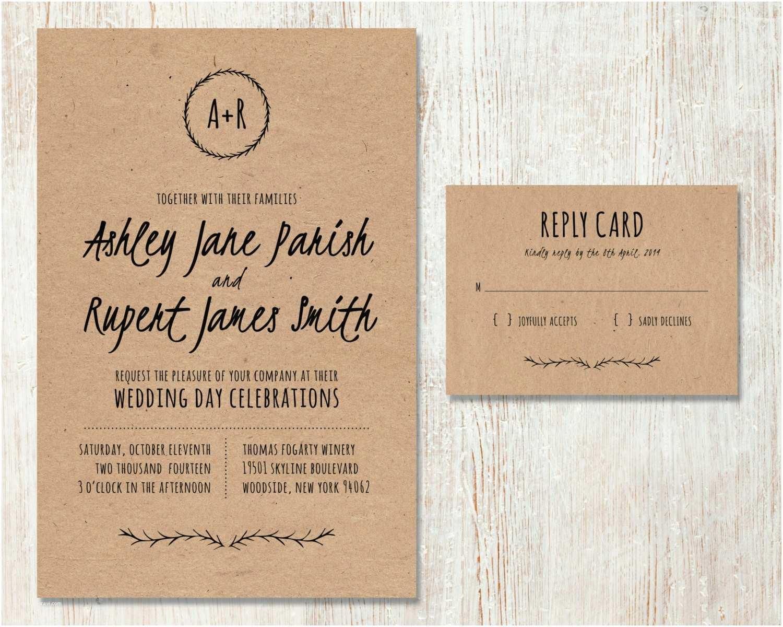 Wedding Invitation Paper Best Collection Kraft Paper Wedding Invitations