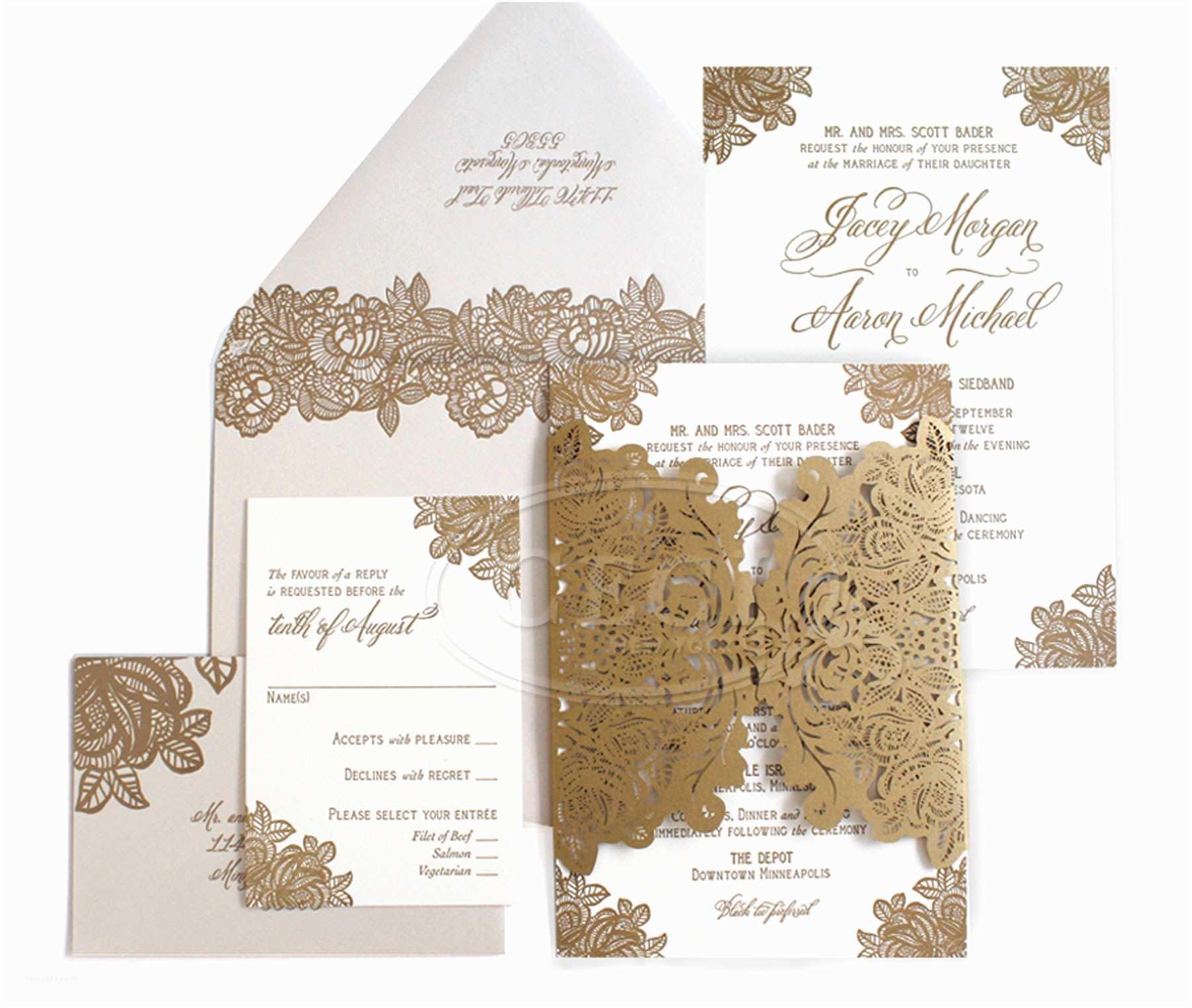 Wedding Invitation Paper Laser Cut Wedding Invitations