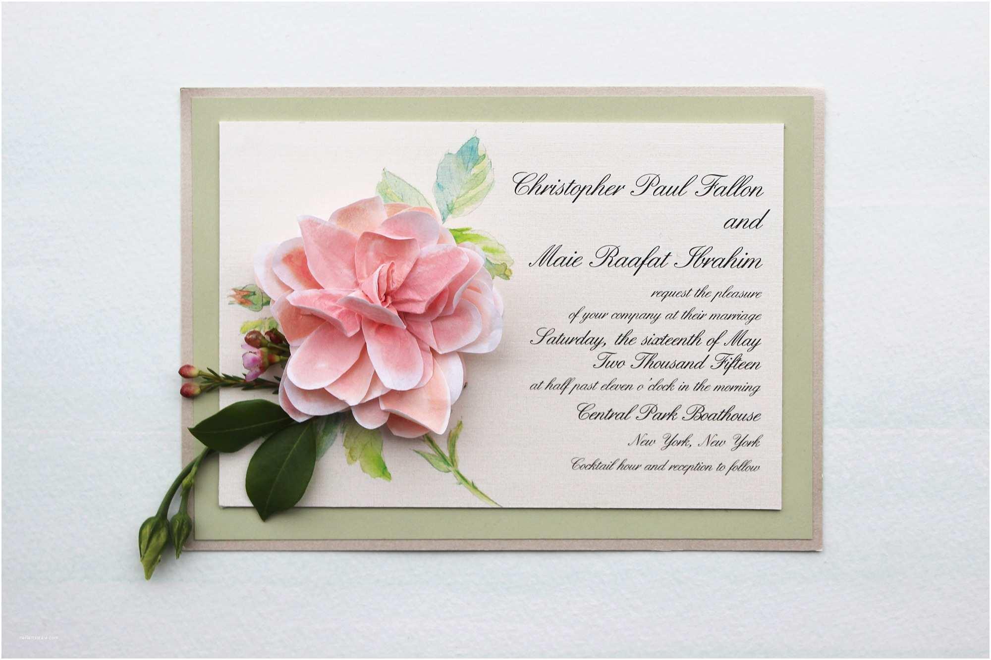 Wedding Invitation Paper Paper Flower Wedding Invitations Momental Designsmomental