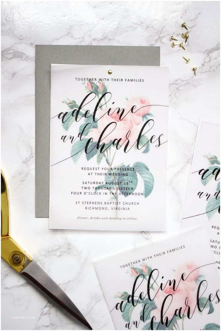 Wedding Invitation Paper Stock 17 Best Ideas About Floral Wedding Invitations On
