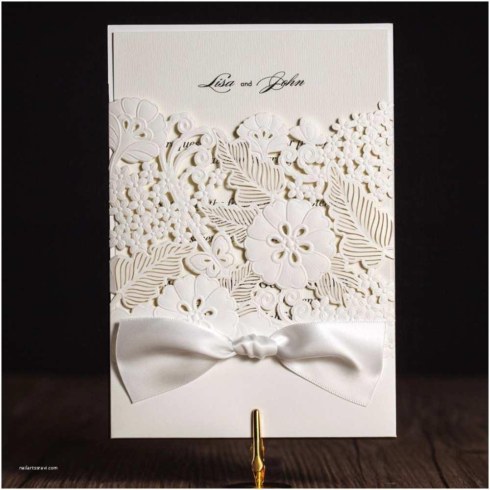 Wedding Invitation Paper Stock Aliexpress Buy Laser Cut Wedding Invitations Cards