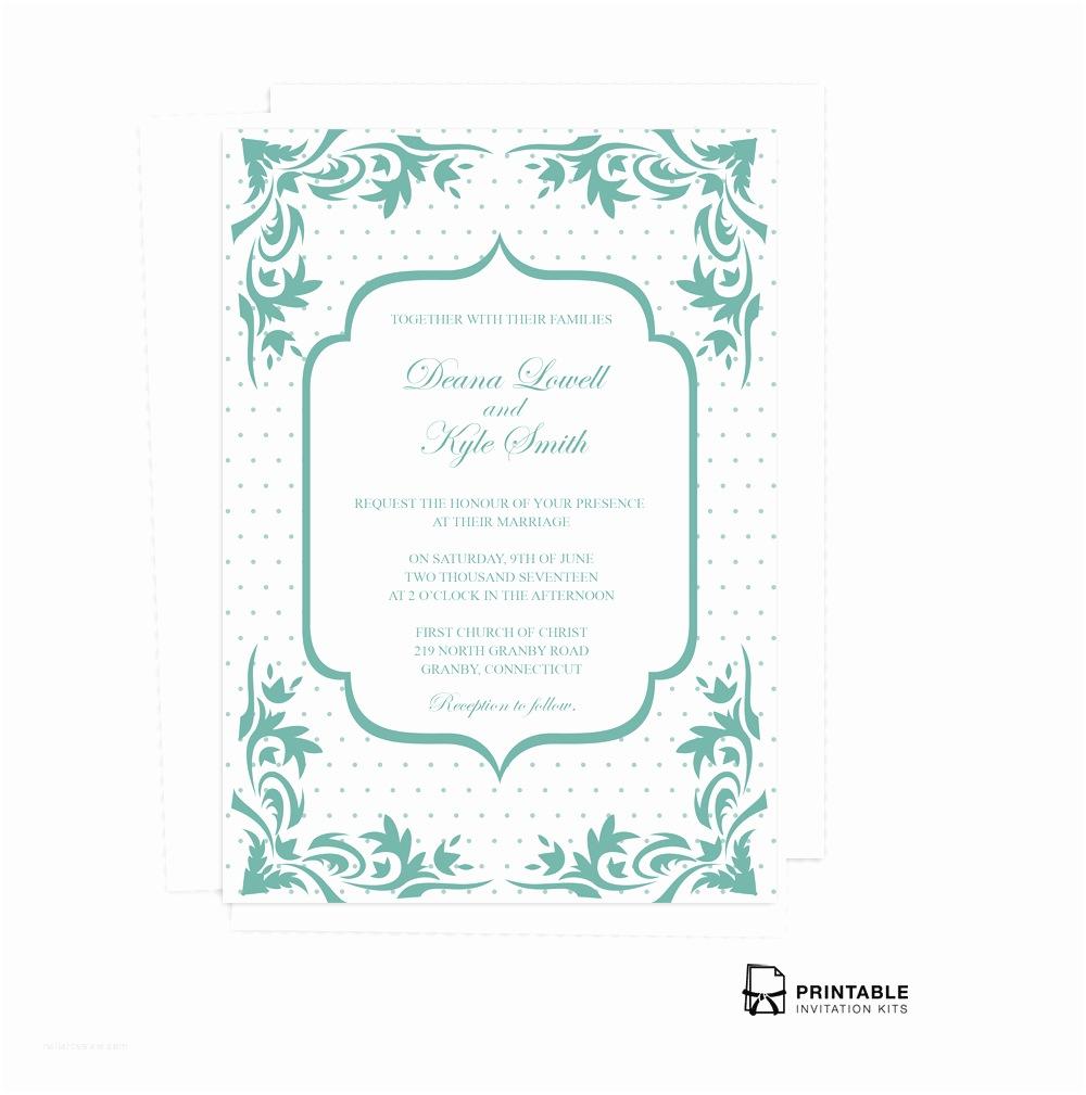 Wedding Invitation Pdf Boho Dots Wedding Invitation Pdf