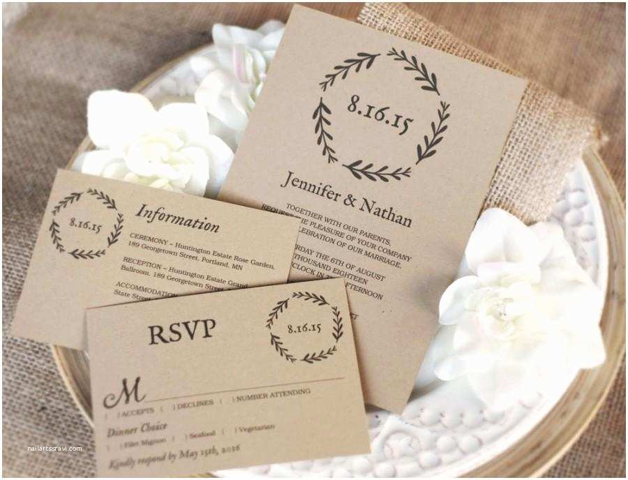 Wedding Invitation Pdf Printable Wedding Invitation Template Diy Wedding