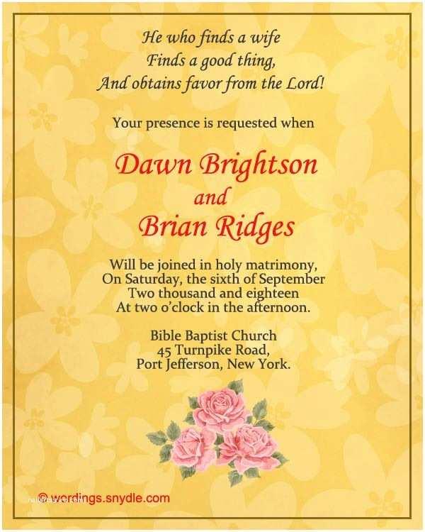 Wedding Invitation Phrases for Friends Christian Wedding Invitation Wording Samples