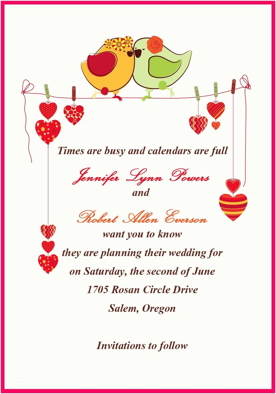 Wedding Invitation Phrases for Friends Personal Wedding Invitation