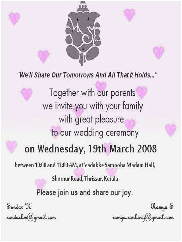 Wedding Invitation Phrases for Friends Wedding Invitation Quotes for Friends In English