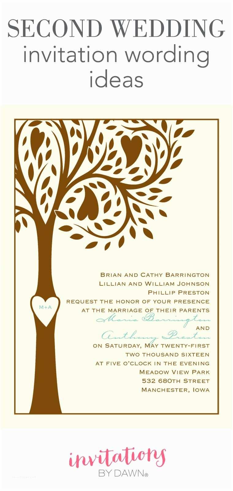 Wedding Invitation Phrases Second Wedding Invitation Wording