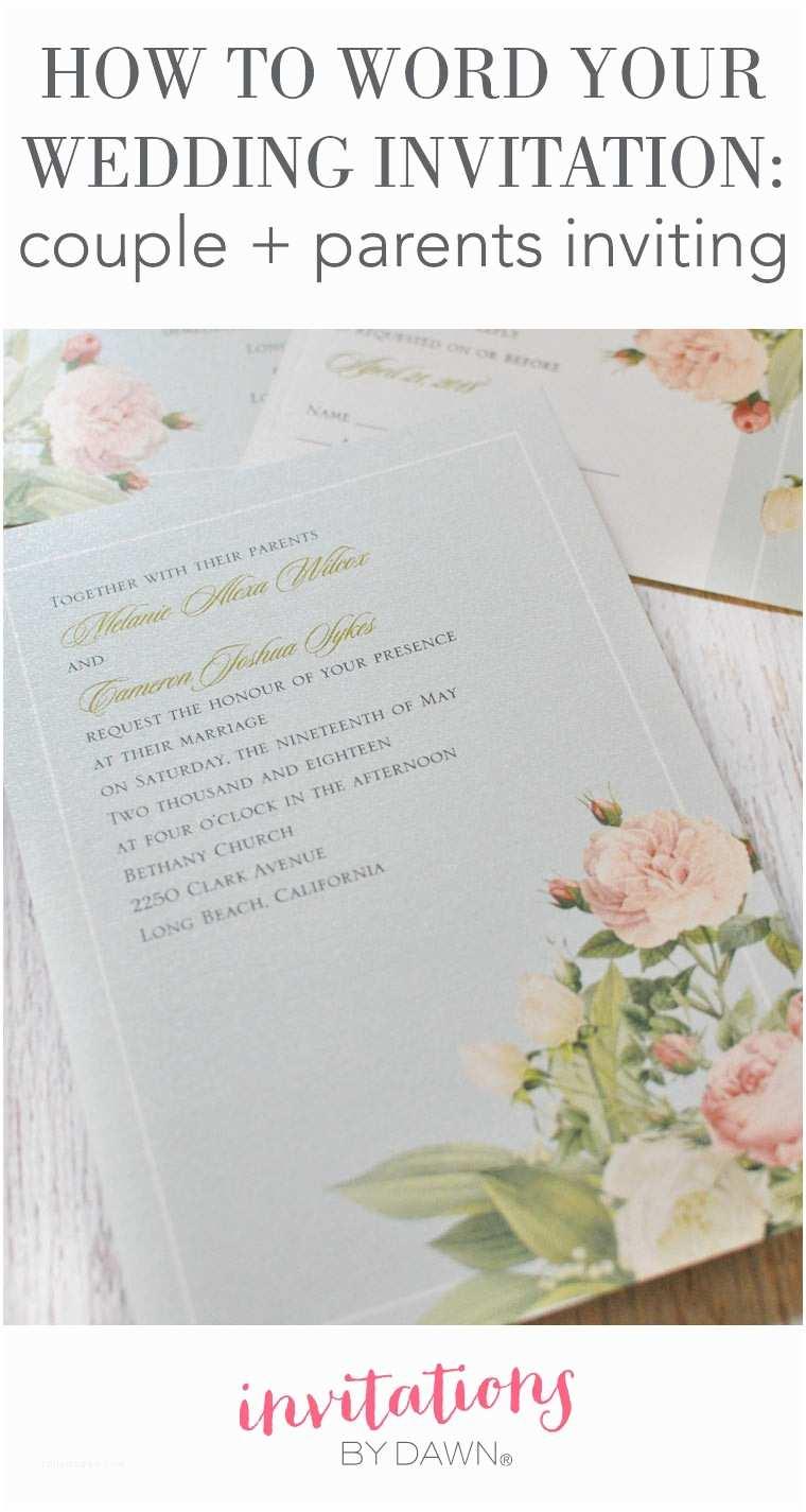 Wedding Invitation Phrases Wedding Invitation Wording Bridal Couple Hosting Yaseen