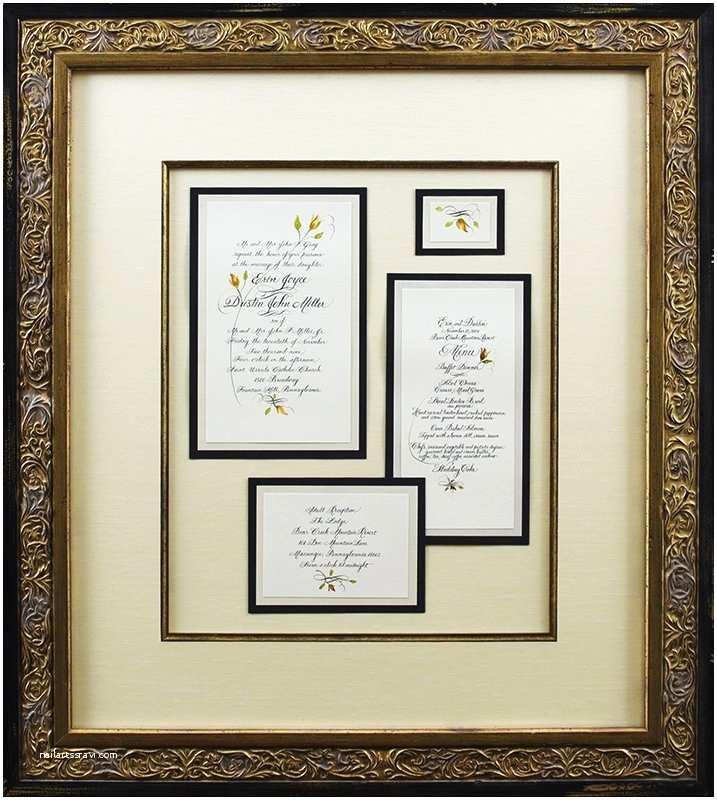 Wedding Invitation Picture Frame Framed Wedding Invitation