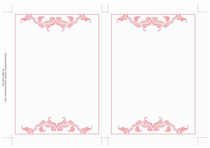 Wedding Invitation Picture Frame Free Printable Wedding Invitation Template soft Pink
