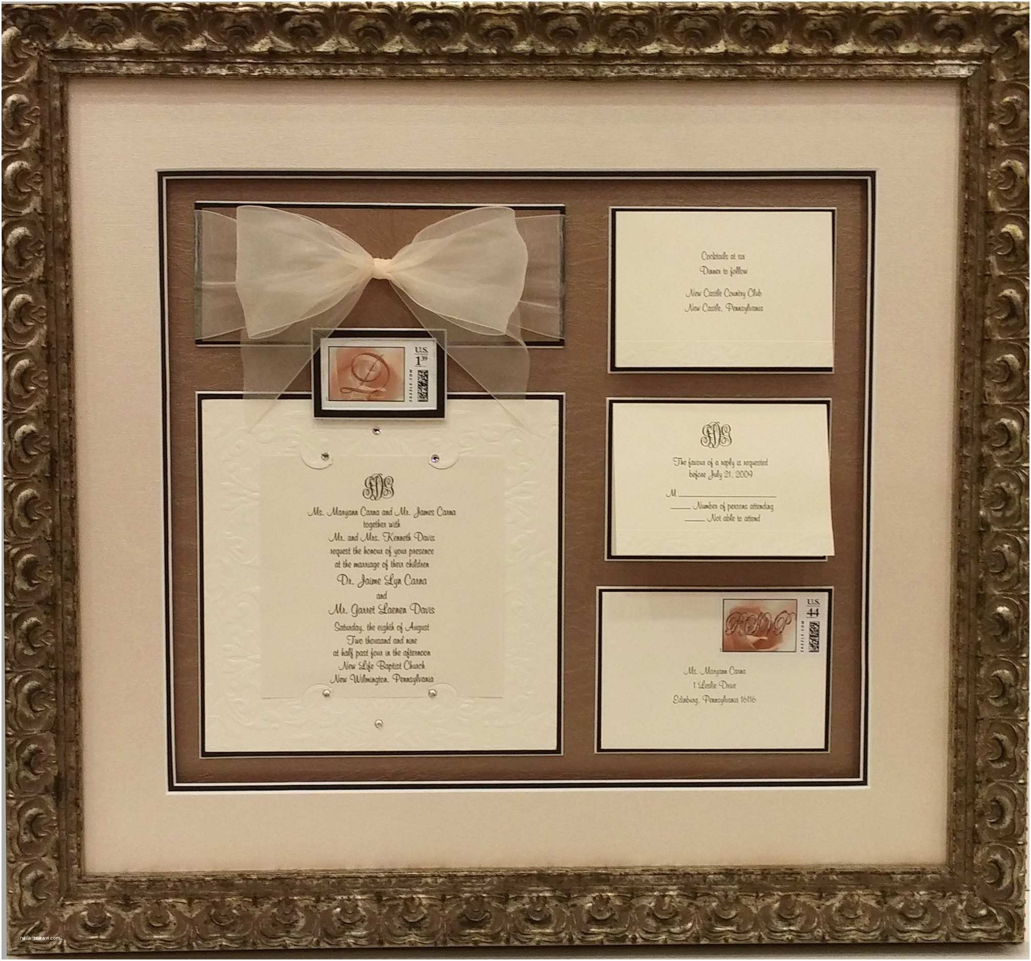 Wedding Invitation Picture Frame Mind Blowing Framed Wedding Invitation which Suitable for