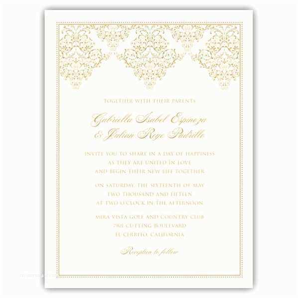 Wedding Invitation Picture Frame ornate Scroll Frame Wedding Invitations
