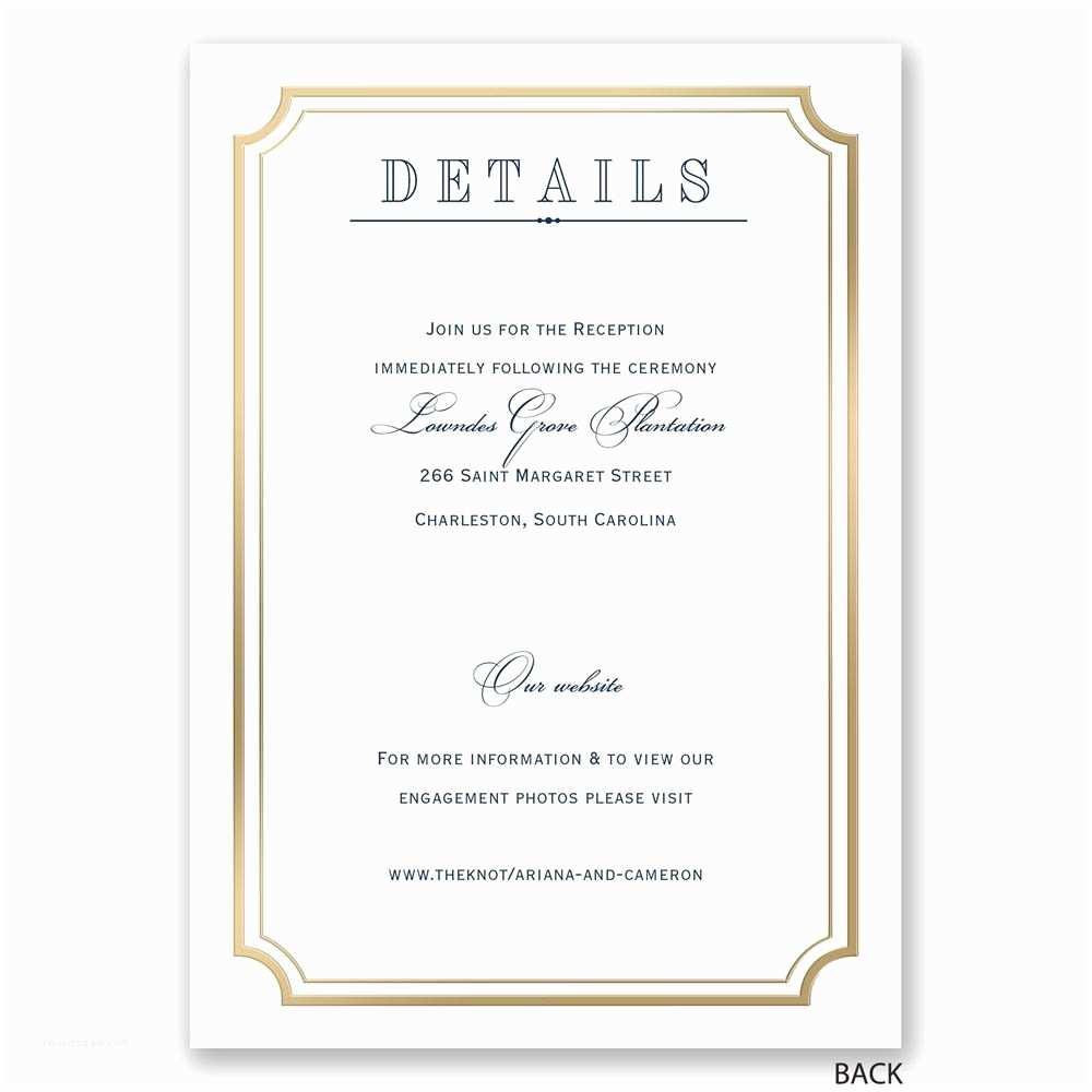 Wedding Invitation Picture Frame Wedding Invitation Frames Gold