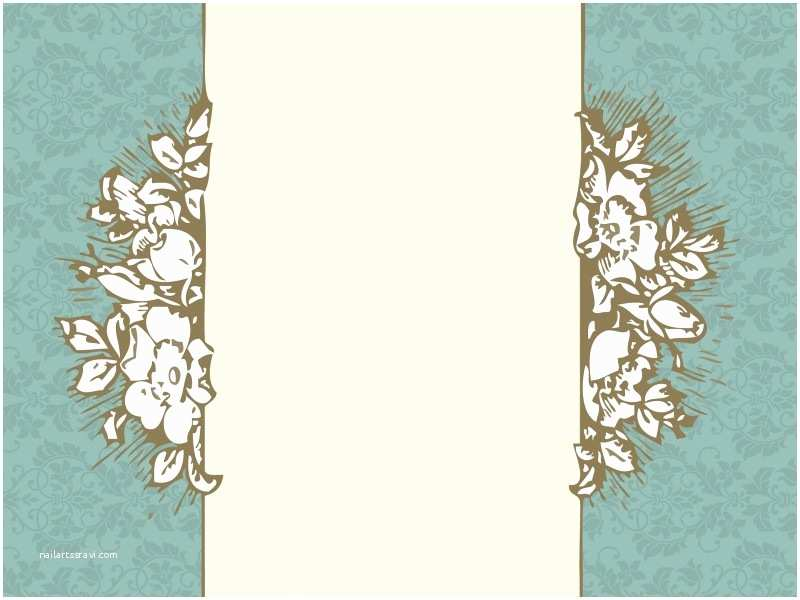 Wedding Invitation Pictures Background Wedding Invitation Floral Powerpoint Templates