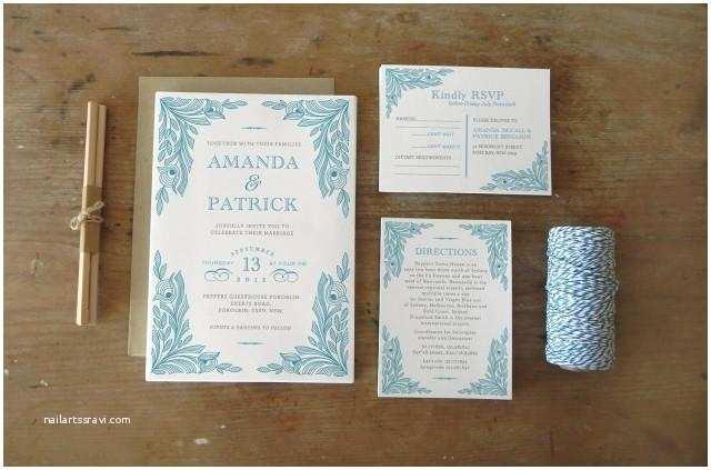 Wedding Invitation Pieces Diy Printable Wedding Invitation Peacock 4 Pieces