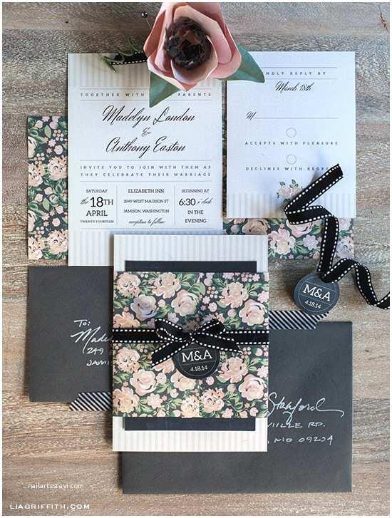 Wedding Invitation Pieces Diy Vintage Wedding Invitation Set