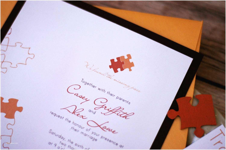 Wedding Invitation Pieces Puzzle Piece Wedding Invitation Sample