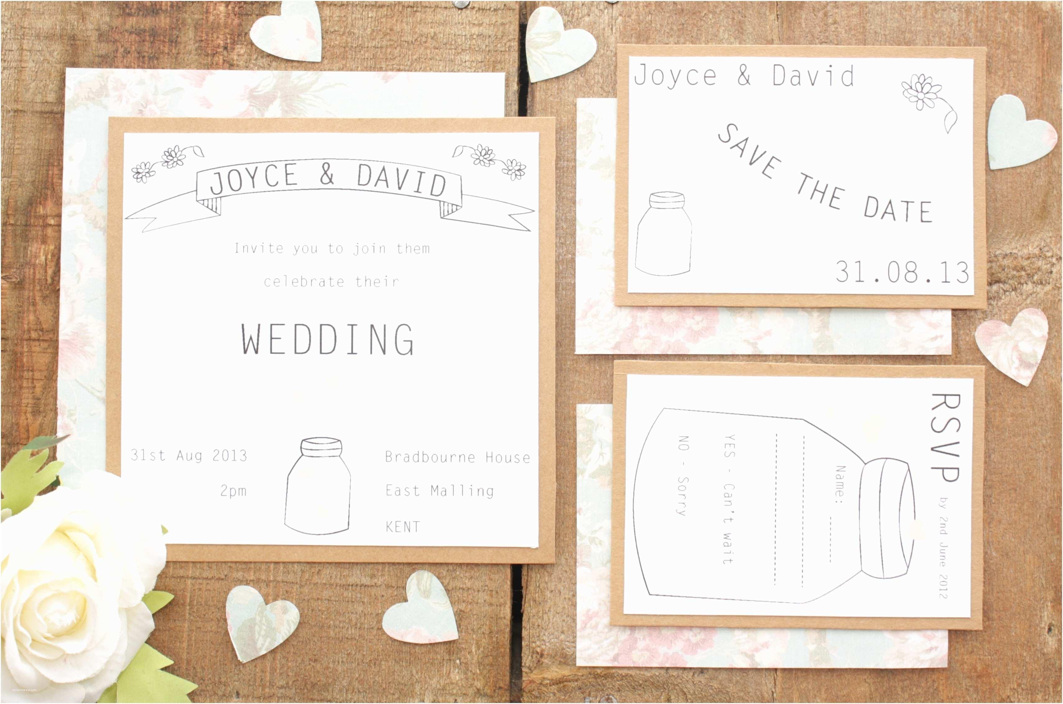 Wedding Invitation Pieces Vintage Wedding Invitation Sets Cobypic