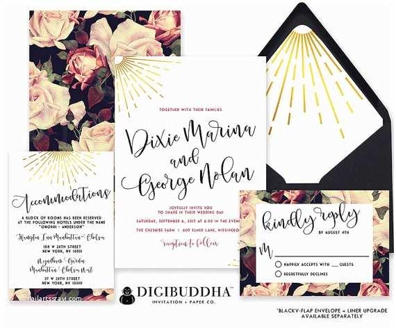 Wedding Invitation Pieces Wedding Invitations Wedding Invitation Set 3 Piece Wedding