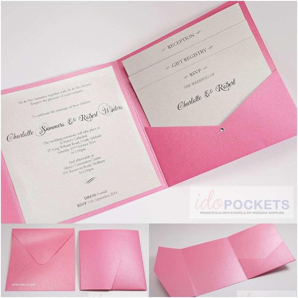 Wedding Invitation Pocket Envelopes 20 X Hot Pink Shimmer Square Wedding Invitation Envelopes