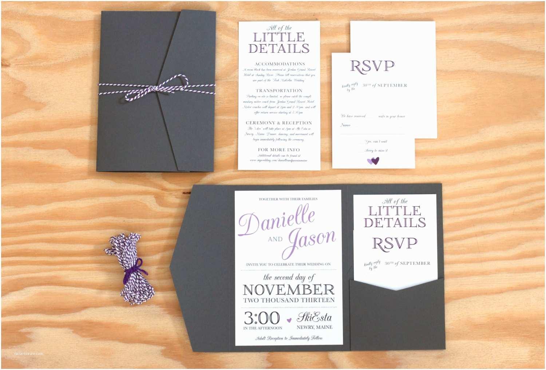 Wedding Invitation Pocket Envelopes Pocket Wedding Invitation Packaged Wedding Invitation