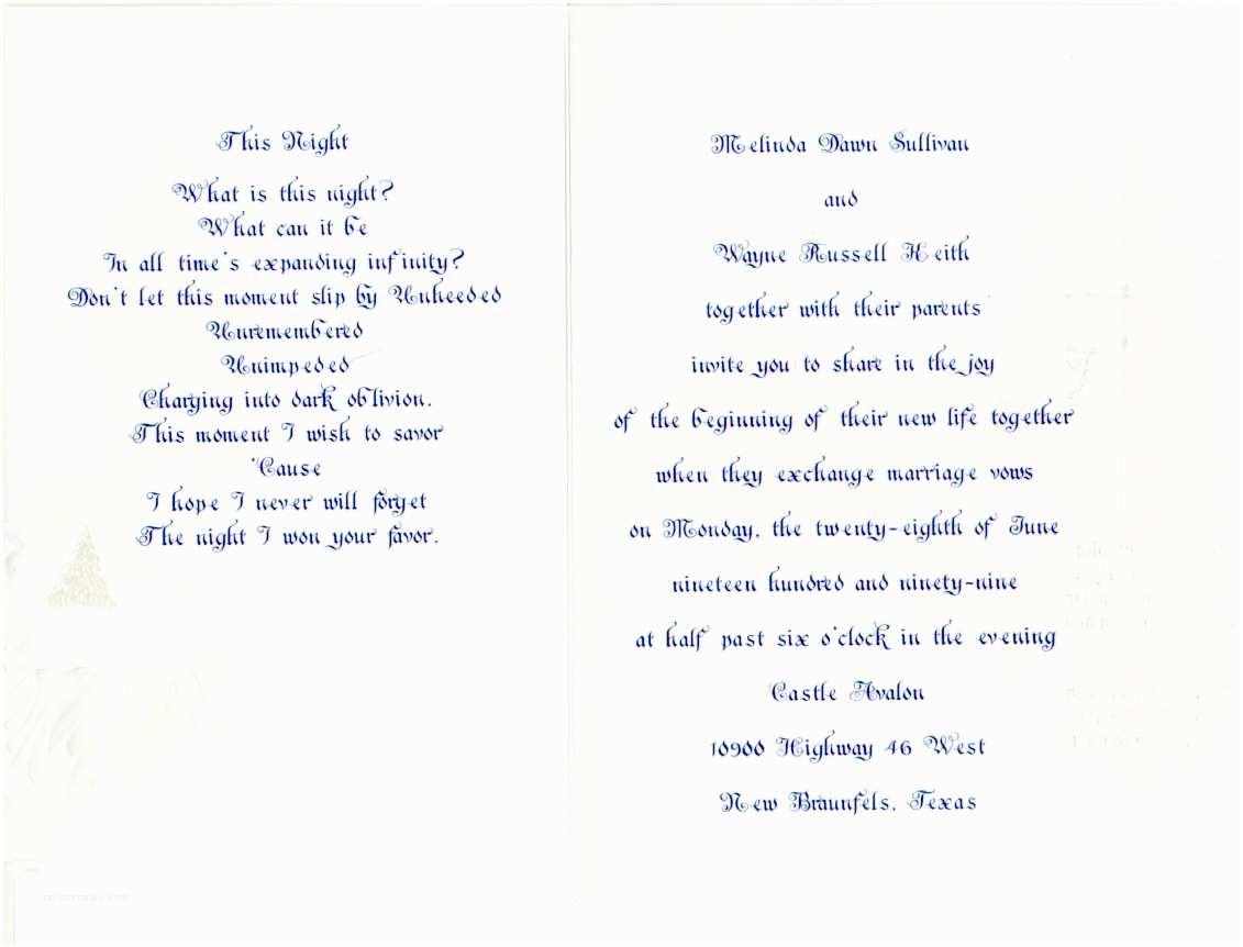 Wedding Invitation Poems 25 Sweet Wedding Poems