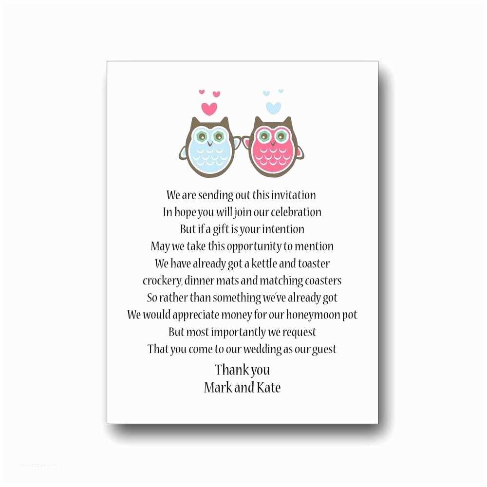 Wedding Invitation Poems 50 X Wedding Poem Cards for Your Invitations Invites