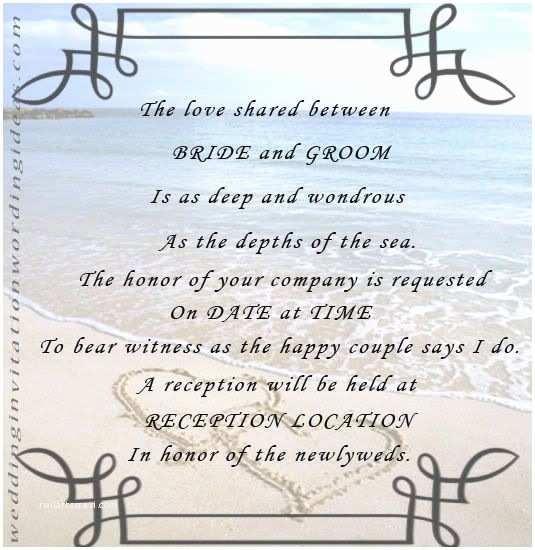 Wedding Invitation Poems Unique Beach Wedding Invitations