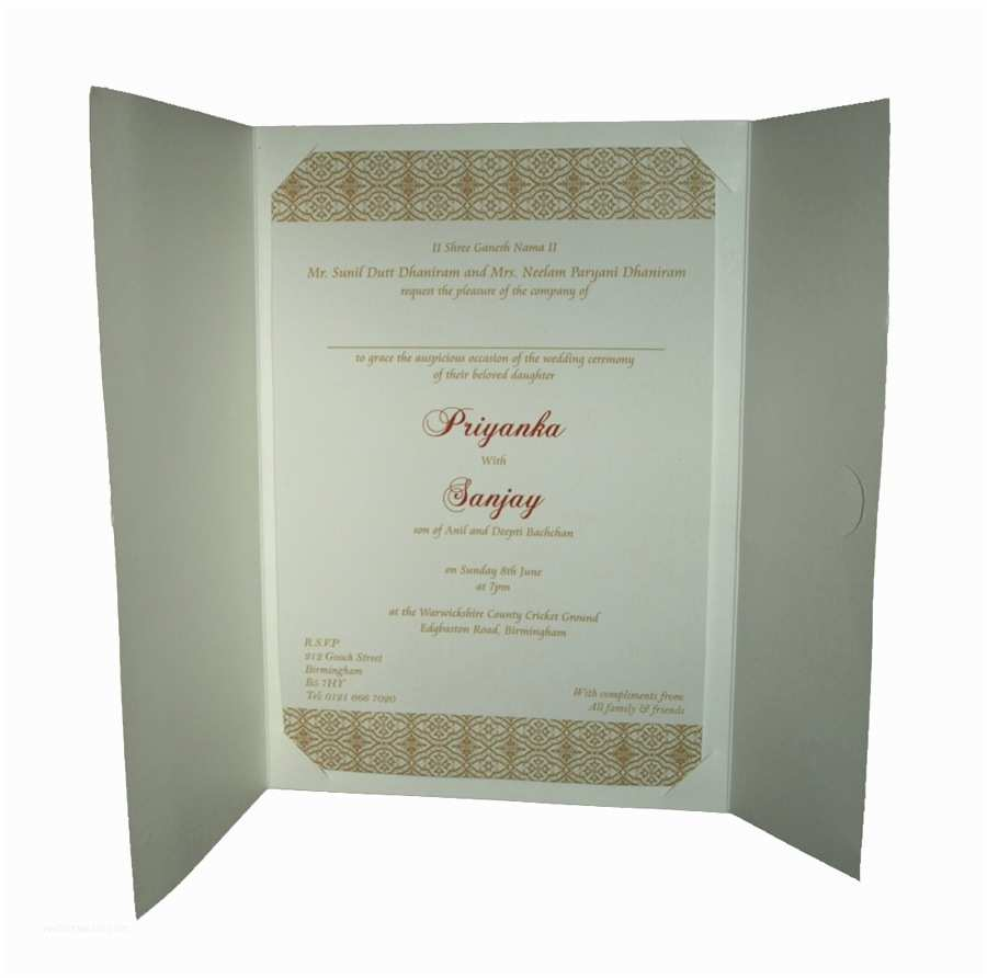 Wedding Invitation Pricing Guide Pcm Wi H Wedding Invitation £1 10 Indian & Pakistani