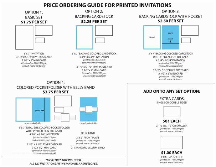 Wedding Invitation Pricing Guide Standard Pricing Guide for Wedding