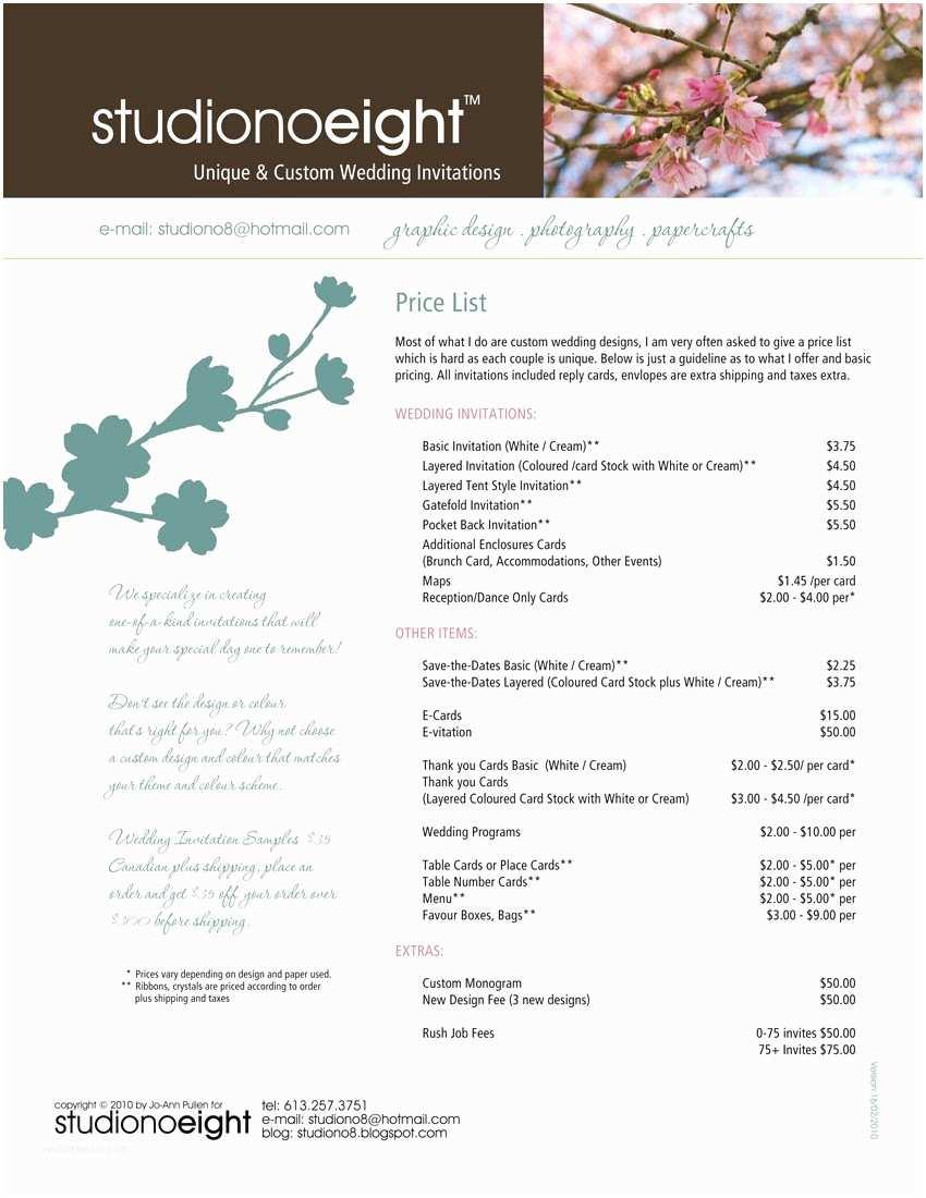 Wedding Invitation Pricing Guide Studiono8 Wedding Invitations and Pricing