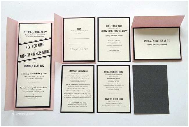 Wedding Invitation Printing Sire Press Screen Printed Wedding Invitation Packages