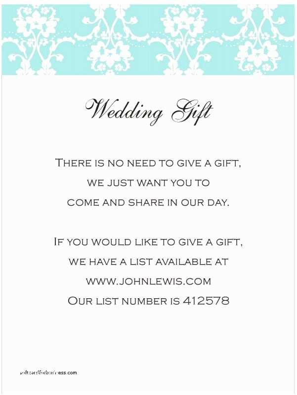 Registry Wording Wedding Invitation
