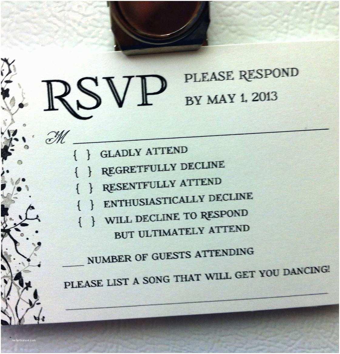Wedding Invitation Response Buboblog A New York City Dad Smart Idea for A Wedding