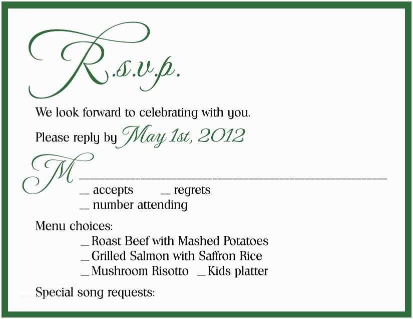 Wedding Invitation Response Card Wedding Invitation Wording Samples Response Card Yaseen