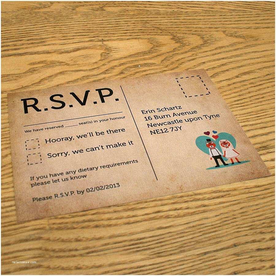 Wedding Invitation Response Rsvp Wedding Invitation