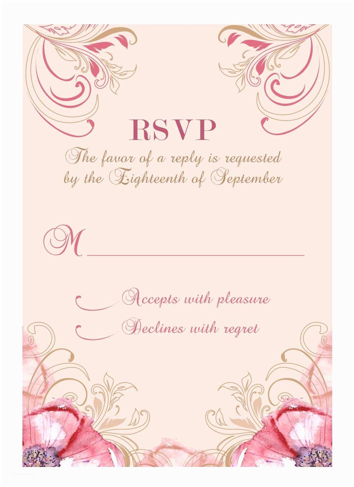 Wedding Invitation Response Wedding Invitation Response Card Wedding Invitation