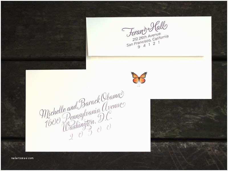 Wedding Invitation Return Address Etiquette Custom Wine Harvest Wedding Invitation Outer Envelope
