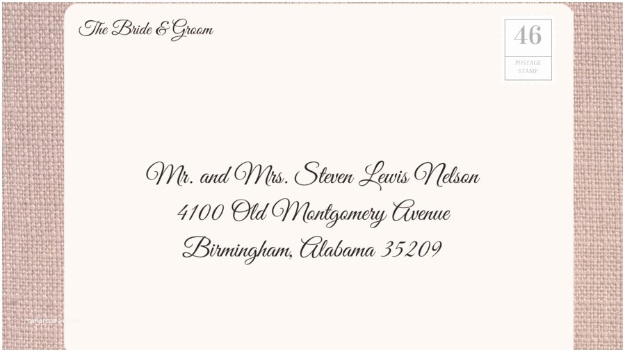 Wedding Invitation Return Address Etiquette How to Address Wedding Invitations southern Living