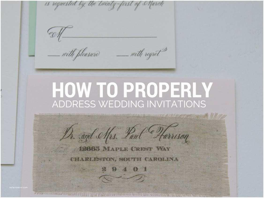Wedding Invitation Return Address Etiquette How to Properly Address Wedding Invitations Gangcraft