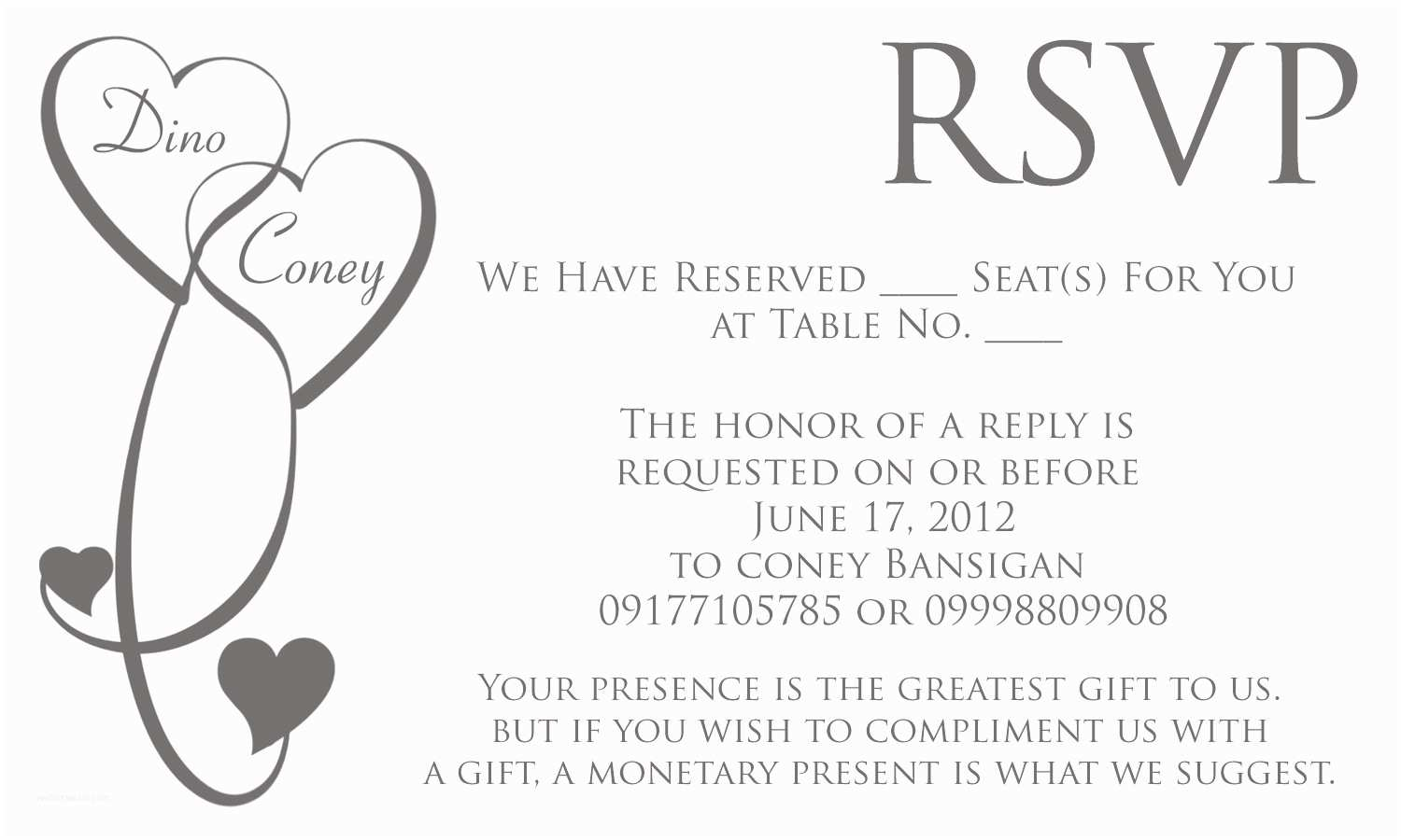 Wedding Invitation Rsvp Wording Samples Invitation Wordings Rsvp