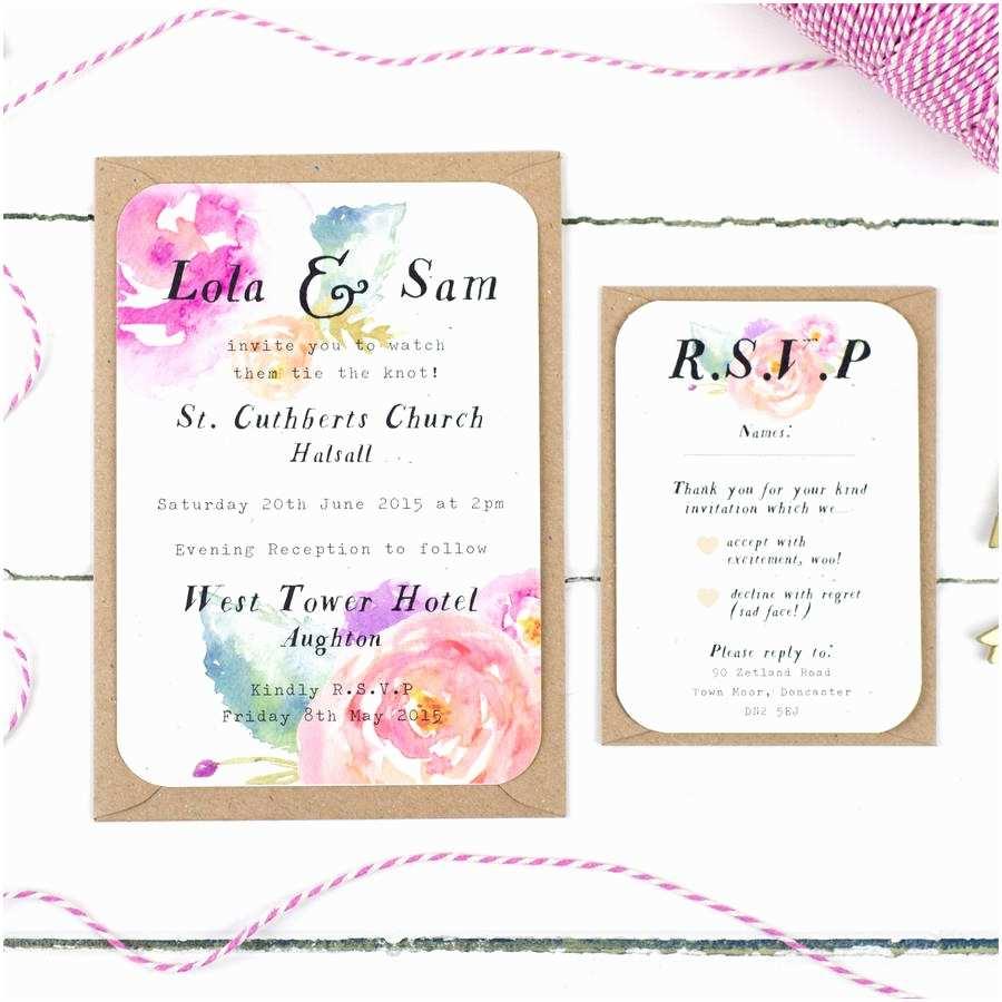 Wedding Invitation Rsvp Wording Samples Summer Bloom Wedding Invitation by Nina Thomas Studio