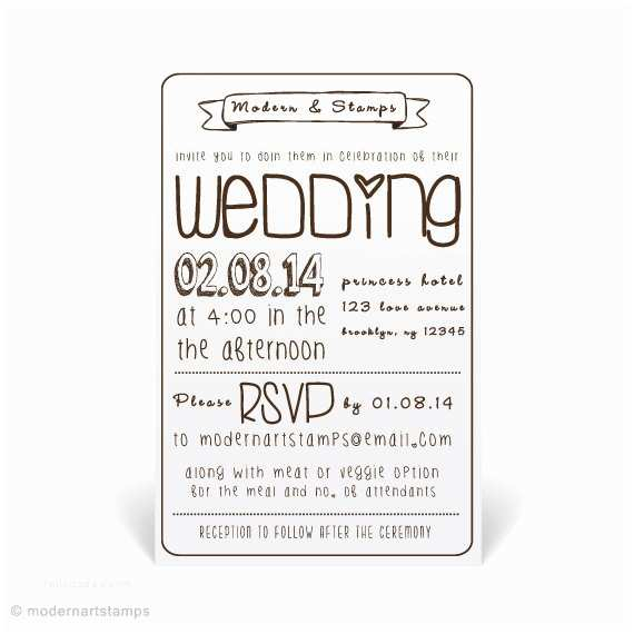 Wedding Invitation Rubber Stamps Custom Wedding Stamp Wedding Invitation Stamp by