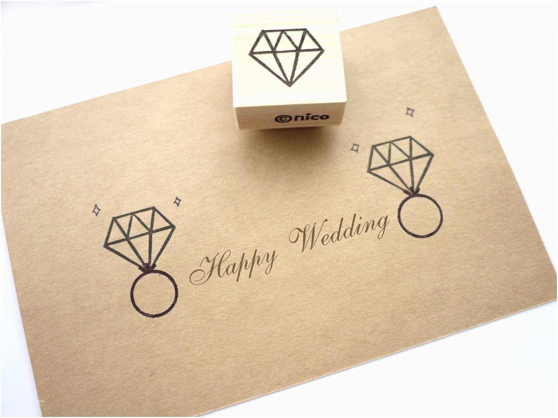 Wedding Invitation Rubber Stamps Diamond Stamp Wedding Invitation Rubber Stamp Polygon