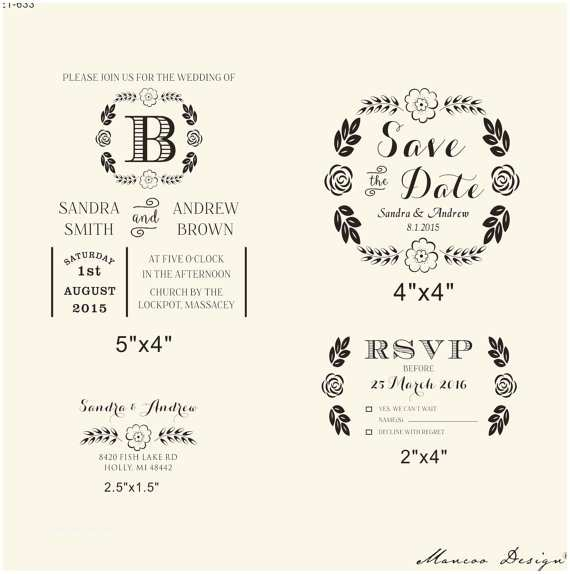 Wedding Invitation Rubber Stamps Diy Invites Rubber Stamp Wedding Invitation Rubber Stamp